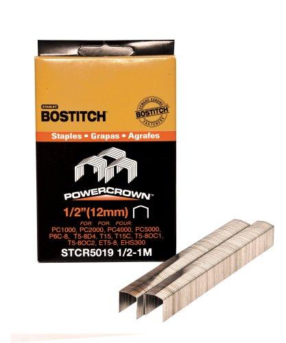 BOSTITCH STCR501912-1M 12-Inch by 716-Inch Heavy-Duty PowerCrown Staple 1000 per Box