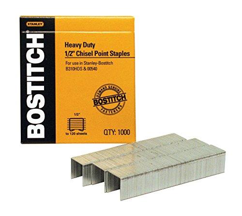 Bostitch Heavy Duty Premium Staples 55-85 Sheets 05-Inch Leg 1000 Per Box SB3512-1M