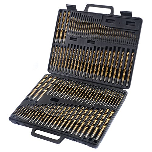 Brand New 115pc HSS High Speed Steel Titanium Drill Bit Set Metal w Index Carry Case