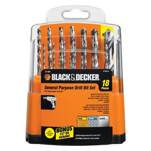 Black Decker 71-931 HSS Drill Bit Set 18-Piece