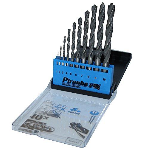 Black Decker X56043 Hss Drill Bit Set 10 1-10mm