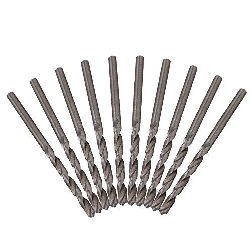CNBTR 10mmS2 Diameter Straight Shank Metal Spiral Twist Drill Bit Pack Of 10