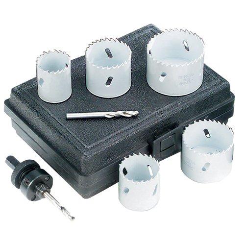 TTC Bi-Metal Hole Saw Sets 9800D 34 78 1 1-14 1-381-12 1-34 2 2-14 2-12 3 14 pilot drill 2 Arbors Plastic case