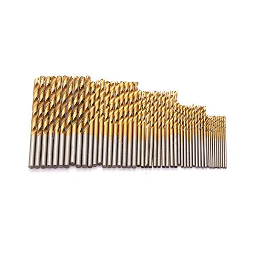 50 Pcs Twist Drill Bit Set Probe Pin Micro Hand Drill Chuck Bits Wood Jewelry Drilling Tool 1152253mm 5Sizes