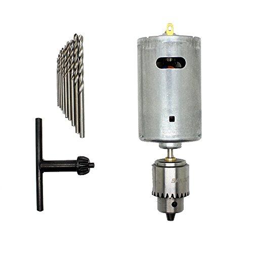 AUTOTOOLHOME Electric Motor Hand Drill PCB Press Drilling Bit Set 0012-016 JTO Chuck DC12-24V
