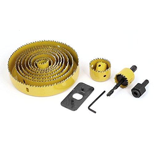 Drill Bits - SODIALR Wood Sheet Metal Cutter Mandrels Saws Hole Saw Drill Bits Kits 16 Pcs