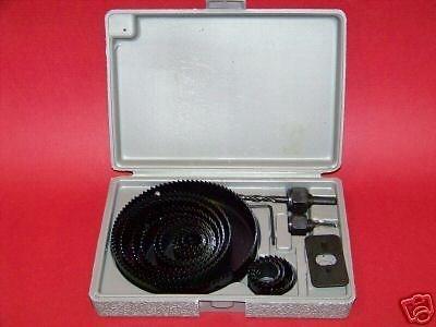 Hole Saw Drill Bit Kit 16pc w Mandrels Saws w Case Wood Plastic Sheet Metal by Hole Saws