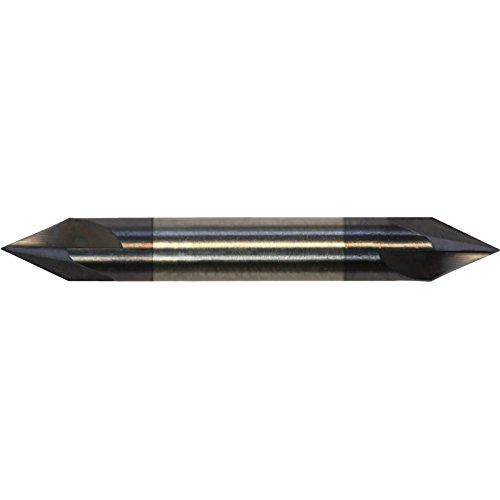 Richards Micro Tool 819C-4100-375 Angled Edge Chamfer Mill 4 Flute Carbide 300 OAL 0205 Tool Flute Length