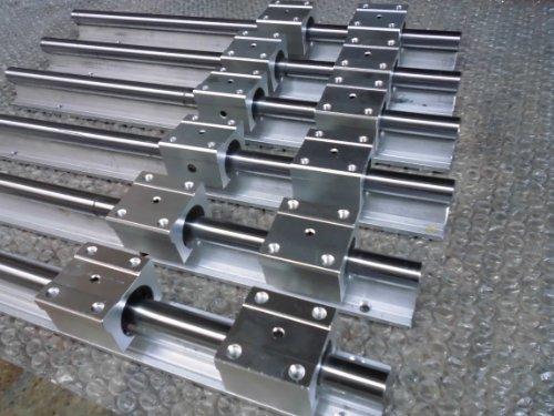 2x SBR20-500mm825mm1250mm 20mm Fully Supported Linear Rail  12 SBR20UU BlockbEARING