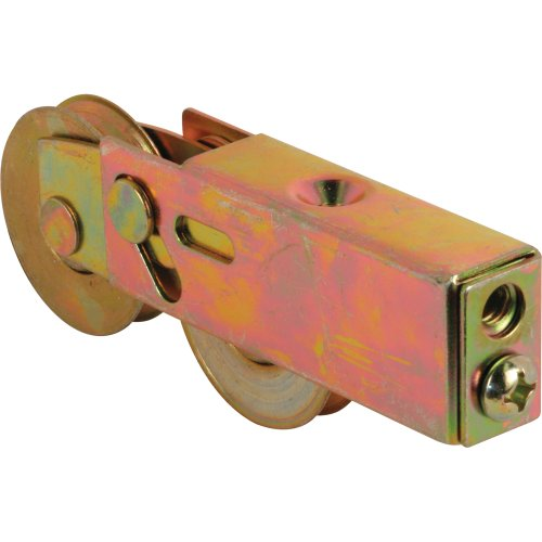 Prime-Line Products D 1754 Roller Assembly 1-12 in Tandem Wheels Concave Edge Steel Ball Bearings Adjustable