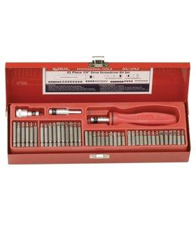 Genius Tools SC-243 14 Hex Shank Screwdriver Bit Set 43-Piece