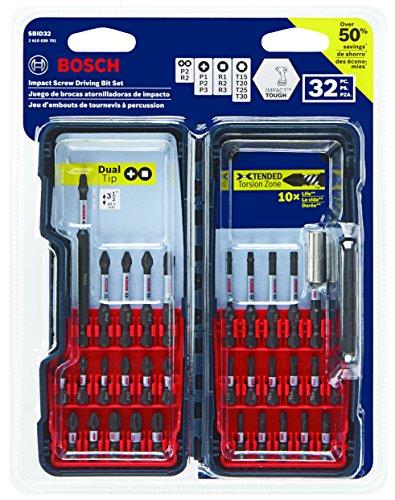 Bosch Impact Tough Screwdriver Bit Set 32-piece