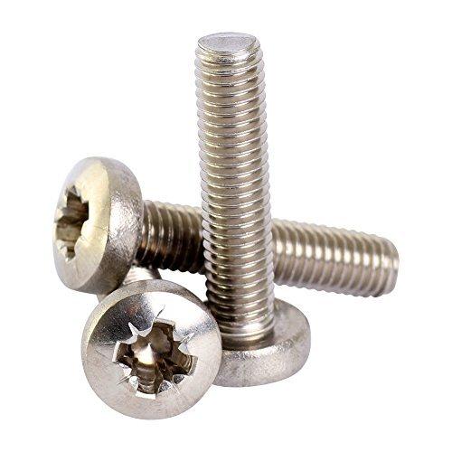 Bolt Base 6mm A2 Stainless Steel Pozi Pan Head Machine Screws Posi Pozidrive Screw DIN 7985 M6 x 60 - 2 by Bolt Base