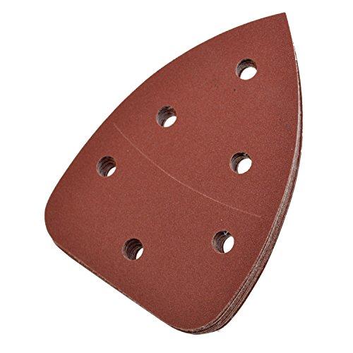 HQRP 240-Grit 55 X 3875 Hook Loop Sand Paper for Black Decker Mouse Detail Sander 10 Pack