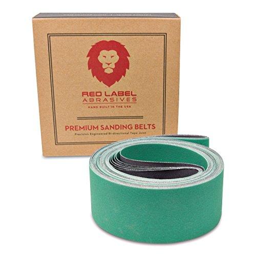 2 X 72 Inch 220 Grit Metal Grinding Ceramic Sanding Belts Extra Long Life 6 Pack