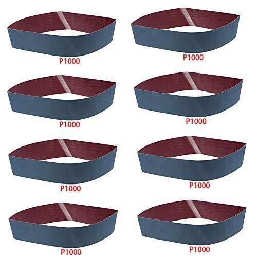 8 Pack Sanding Belt 4x 36 LANDGOO 1000 Grit Metal Grinding Belt Aluminium Oxide Sand Belts for Belt Sander Polisher
