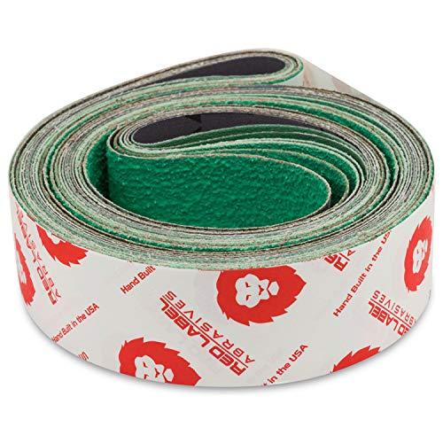 Red Label Abrasives 2 X 42 Inch 80 Grit Metal Grinding Ceramic Sanding Belts Extra Long Life 6 Pack