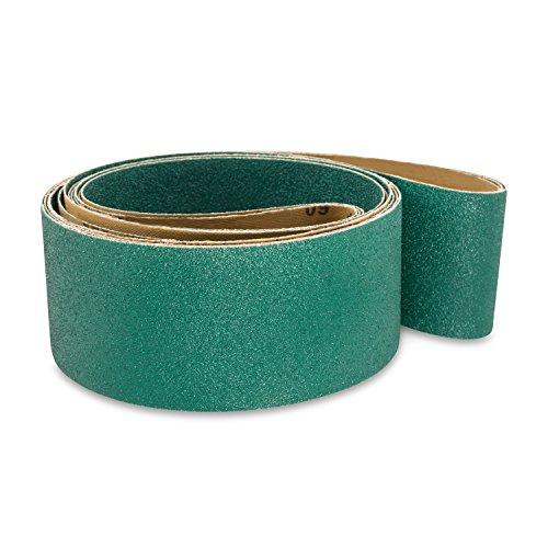 Red Label Abrasives 3 X 132 Inch 36 Grit Metal Grinding Zirconia Sanding Belts 4 Pack