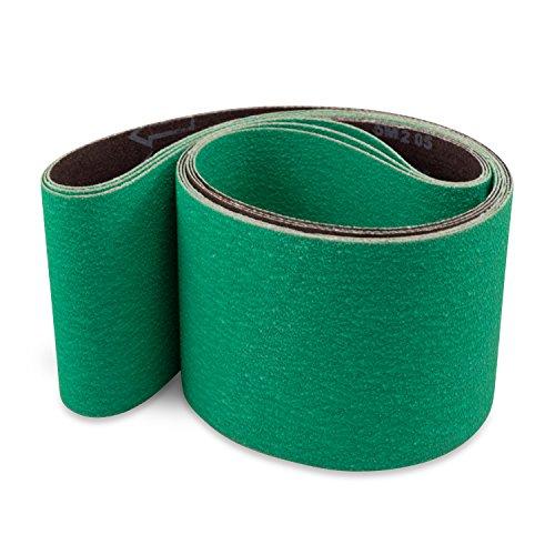 Red Label Abrasives 4 X 48 Inch 80 Grit Metal Grinding Ceramic Sanding Belts Extra Long Life 3 Pack