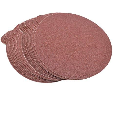HQRP 6-Inch 80-Grit 120-Grit 240-Grit Self Stick Sanding Discs for Bosch 1250DEVS 3727DEVS ROS65VC-6 Random Orbit Sander Sandpaper 6 30 Pack 10 Each of 3 Grits