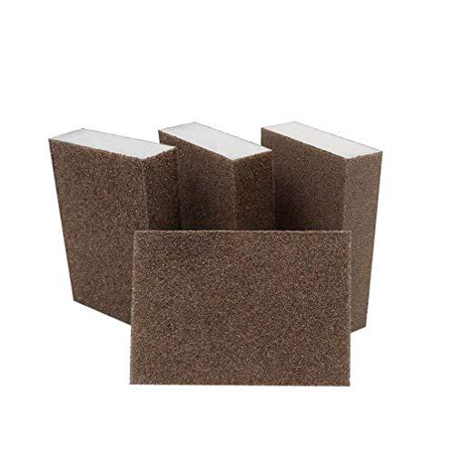 Cabilock 2pcsset Practical Reusable Durable Sanding Buffing Grinding Polishing Abrasive Sponge Block Pad Sandpaper Cleaning Hand Tool