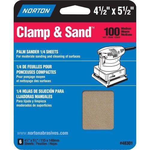 Norton Multisand Abrasive Sponge 5-12 Length x 4-12 Width Grit 100 Medium Pack of 6