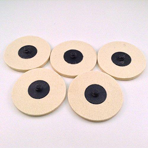 5pc Roloc Style 3 Wool QC Disc Polishing Buffing Pads Wheels