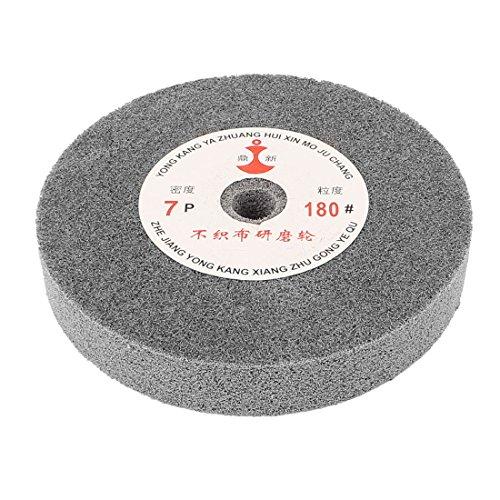 uxcell 150mm Dia 25mm Thick 180 Grit Nylon Fiber Wheel Polishing Buffing Disc
