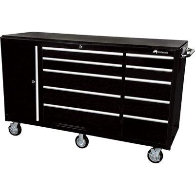 Montezuma 72in 10-Drawer Tool Cart with Bulk Storage Area Model EL7210TC