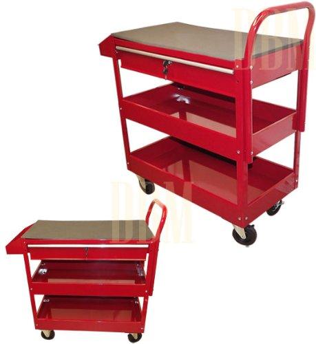 RED Mobile 36 Steel Tool Cart Roller Rolling Garage Shop Workbench Tool Holder