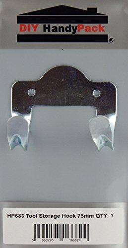 DIY HandyPack - Shed Garage Tool Storage Hook 75mm by DIY HandyPack