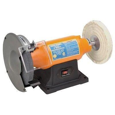 Bench Grinderbuffer 8 - 34 Hp Low Vibration 3600 RPM Motor - 58 Arbor