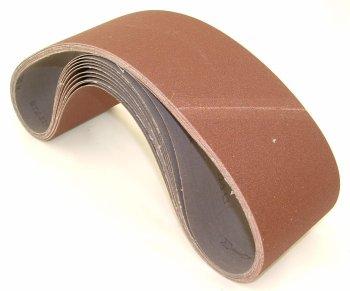 Aluminum Oxide Sanding Belts 4 by 36 100 Grit Pack of 10