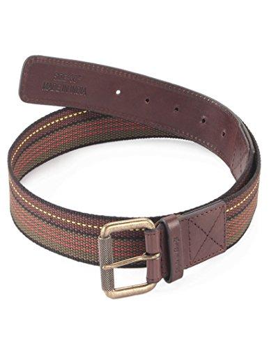 Style n Craft 390306-36 Belt in Top Grain LeatherWebbing Combination Brown