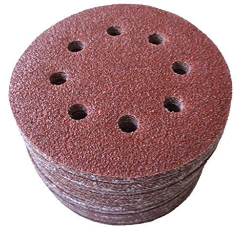 Moshine 10pcs 5 8 Hole 80 Grit Mix Sanding Disc Random Orbit Sandpaper Velcro Sander