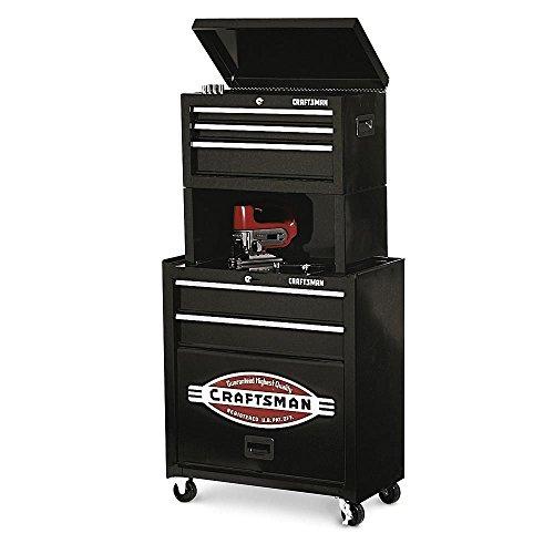 5 Drawer Case Cabinet Garage Storage Mechanic Riser Tool Box Chest Organizer Rolling Steel Drawer Wall Metal Craftsman