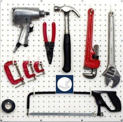 WallPeg White Pegboard Hooks - Flex-Lock L Style for Pegboard Tool Storage 100-pk