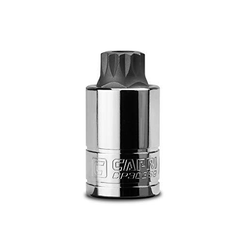 Capri Tools 16 mm MT16 Stubby XZN Triple Square Bit Socket 12-Inch Drive