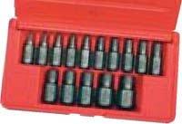 Hanson Irwin HA53228 15 Pieces Multi Spline Screw Extractor Set 18-916