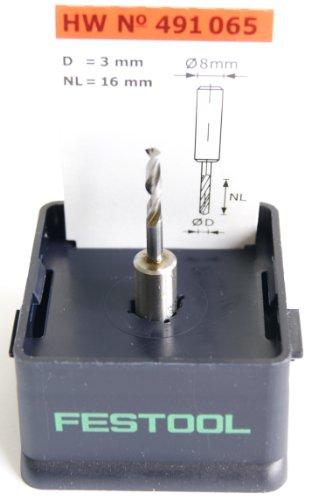 Festool 491065 Dowel Drill Router Bit Hw 3X16mm