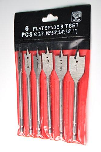 DRILLFORCE 6pcs Wood Flat Bits Set 38 - 1
