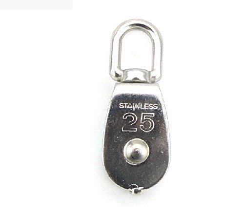 Newcreativetop Stainless Steel 304 Single Wheel Swivel Pulley Block Loading M25