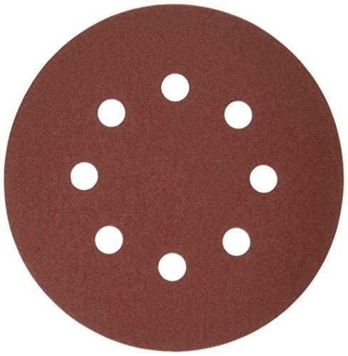 Bosch SR5R185 5 Hook Loop Sanding Disc 8-Hole Red 180 Grit 50 Pack