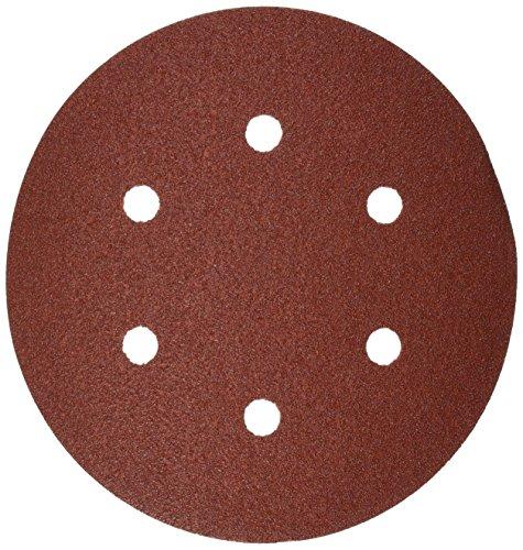 Bosch SR6R082 Random Orbit Sander Hook and Loop 6 Hole Disc 6-Inch 80 Grit Sand Paper Red 25-Pack