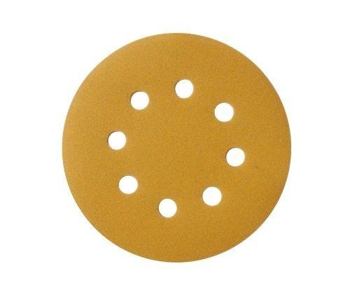 Mestool 58-AP Gold 5-Inch 8-Hole 180 Grit Dustless Hook&Loop 100-pack 180