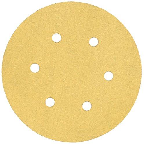 Mirka 23-624-150  6  6-Hole 150 Grit Dustless Hook Loop Sanding Discs - 50 Pack