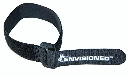 Reusable Cinch Straps 34x8 - 12 Pack Hook and Loop - Plus 2 Free Bonus Reusable Cable Ties