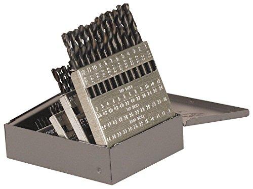 TTC PRODUCTION 60 Piece Screw Machine Stub Length Twist Drill Sets - Drill Point Angle 135° Split Point Tool Material HSS