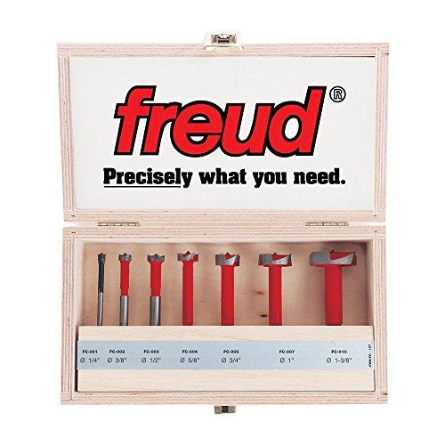 Freud Seven Piece Carbide Forstner Drill Bit Set 14 to 1-38 Dia FC-107