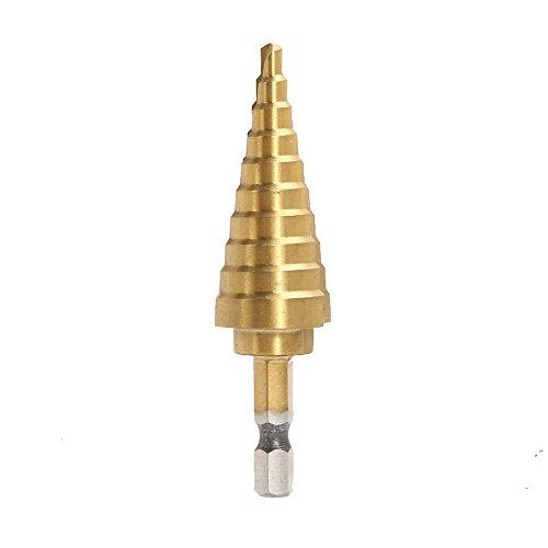 Easydeal HSS Hex Titanium Step Cone Drill Bit Hole Cutter 4-22MM for Sheet Metal